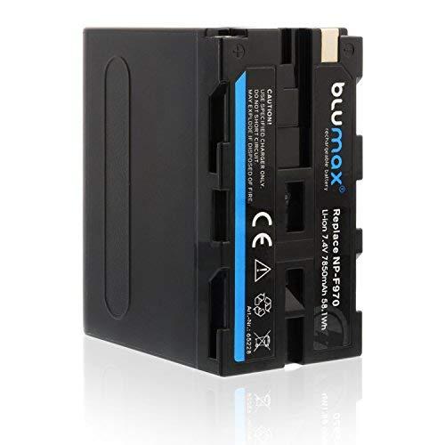 Blumax NP-F970 / NP-F960 Akku mit LG Zellen kompatibel mit Sony NP-F990 NP-F550 NP-F750 (1x NP-F970-7850mAh)