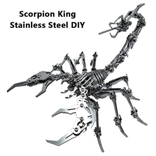 HXSD Assembled Edelstahl DIY Scorpion King 3D Abnehmbares Modell Metall-Puzzle Crafts-Verzierungen, Zum Sammeln Und Tischdekoration, Geschenke