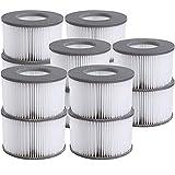 WYWZDQ Accesorios de Whirlpool para filtro mspa, cartucho de filtro de repuesto para piscinas hinchables, cartucho de filtro para filtro mspa para jacuzzi (12 unidades)