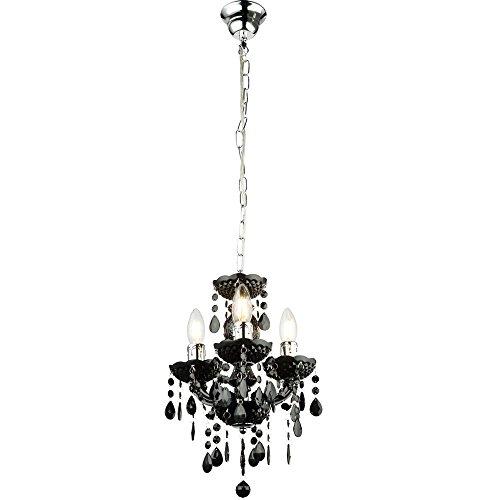 Kronleuchter Decken Hänge Lampe schwarz Wohn Zimmer Kristall Pendel Beleuchtung Globo 63110-3