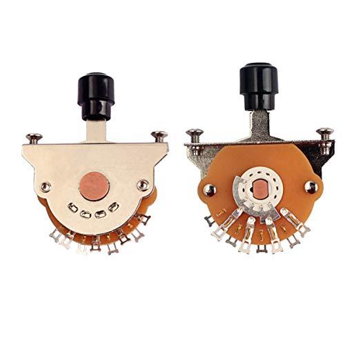 EXCEART Interruptor de Palanca de Selector de Pastilla de 3 Vías con...