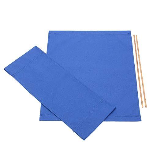 Donpow Funda de Repuesto de Lona, sillas de directores Ocasionales Kit de Cubierta Fundas de Asiento de Lona de Repuesto Protector de Taburete (Blue)