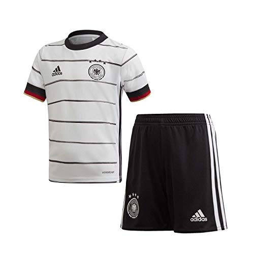 adidas Unisex Kinder Dfb H Mini Football Set, Top:white/Black Bottom:black, 5-6 Jahre (116 EU)