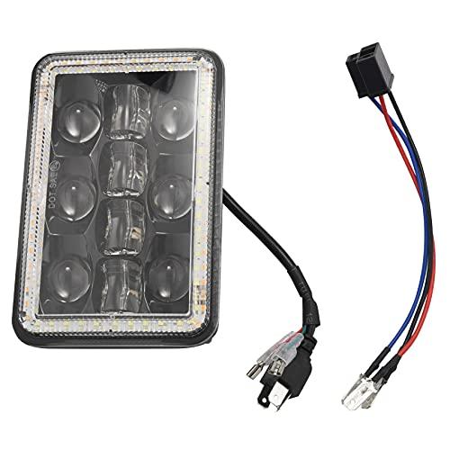 Sunsdew 300W 4X6 Pulgadas Bombillas de Faros LED Proyector 30000LM LáMpara de Luz de Cabeza de Haz Alto Bajo con Ojo de áNgel para Cherokee