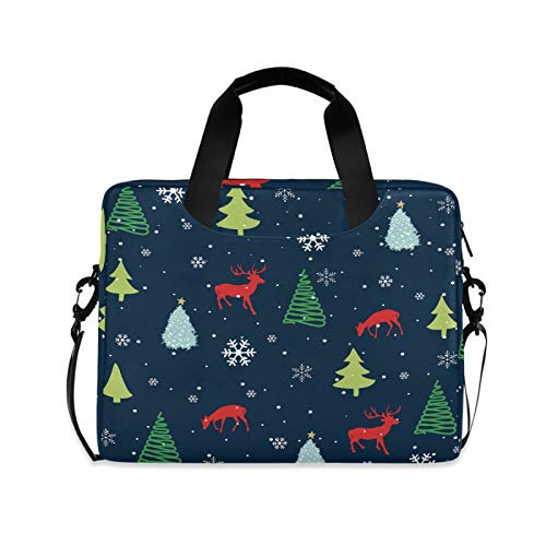 Christmas Tree Laptop Shoulder Messenger Bag with Strap for 15.6 inch 16 inch Laptop Travel-Friendly Briefcase Notebook Computer Sleeve Case