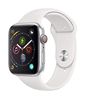 Apple Watch Series 4 (GPS + Cellular, 44mm) - Silver Aluminum Case with White Sport Band (B07HDVK35W) | Amazon price tracker / tracking, Amazon price history charts, Amazon price watches, Amazon price drop alerts