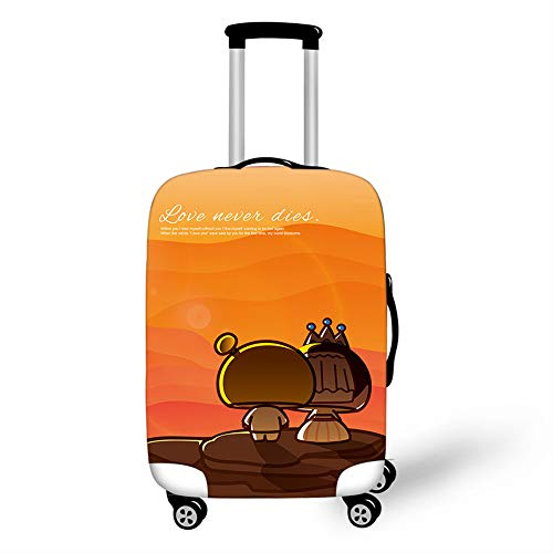 Elastic Luggage Cover, CNNINHAO 3D Print Trolley Case Protective Travel Suitcase Anti Scratch Dustproof Resistant Case Trolley Skin Protector Elasticized Washable (8,XL (30-32inch))