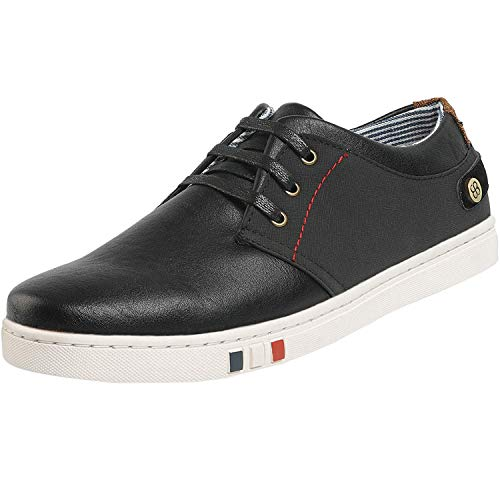 Bruno Marc Men's NY-03 Black Fashion Oxfords Sneakers Business Classic Casual Dress Shoes Size 9.5 M US