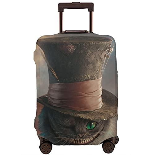 Alicia en el país de las maravillas - Protector de maleta de viaje resistente a los arañazos, a prueba de polvo, elástico y flexible, White (Blanco) - 364519697
