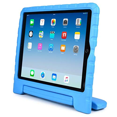 Galaxy - [Rugged Kids Case] Shockproof Convertible Handle Kids Friendly Protective Stand Cover Case Fits iPad 10.2' 2019-2020 8th Gen/iPad Air 3 10.5' / iPad Pro 10.5' - SKY BLUE