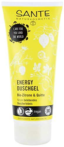 SANTE Naturkosmetik Energy Duschgel, Zitrisch-frischer Duft, Belebt Körper & Sinne, Schützt vor dem Austrocknen, Vegan, 1x200ml
