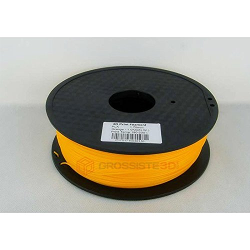 Grossiste3D 3D ABS Filament 1.75 mm 3D Printer or 3D Pen Spool 1 kg Orange