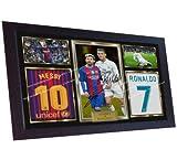 SGH SERVICES Gerahmtes Poster, Ronaldo Messi, Autogramm,