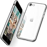 DTTO iPhone SE Case 2020, Clear Soft TPU Cover Case [Lightening Series] with Metal Luster Edge for Apple iPhone 7/8/SE 2020, 4.7 inch, Space Gray