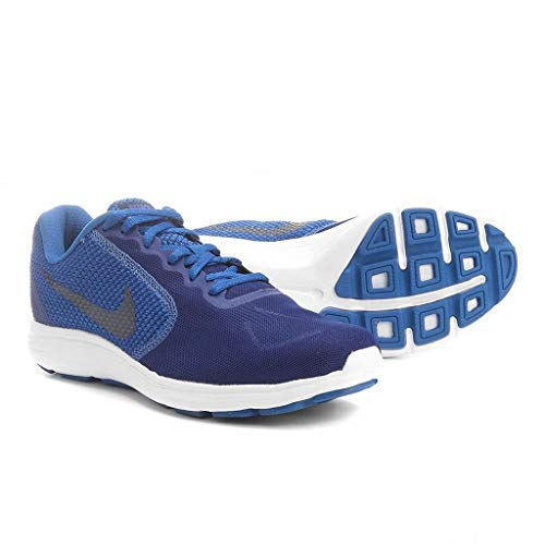 Nike Revolution 3 – Turnschuhe, Herren, Blau (Deep Royal Blue/Obsidian-Blue Jay-White)