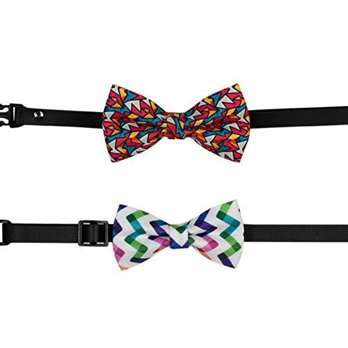 PAWHITS 2 unidades de pajarita para perro, gato, color mariposa, collar para mascotas, accesorio para disfraz
