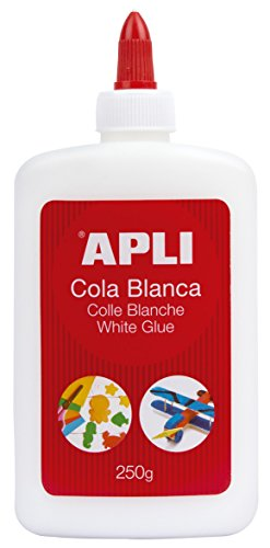 APLI 12850 - Cola, 250 g, color blanco