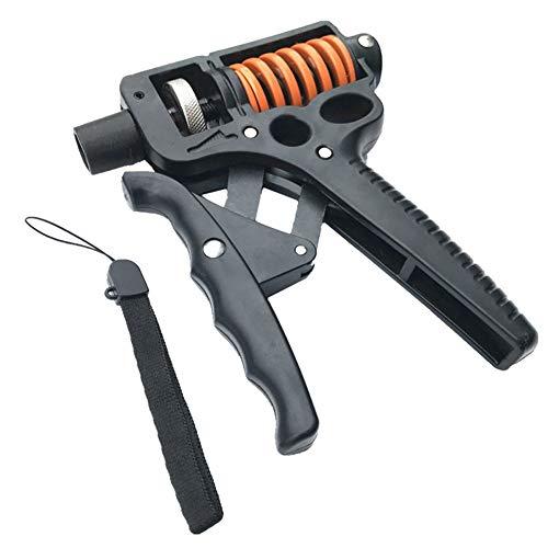 R Tepy Handgriffe, einstellbare Kraft (15-50 kg) Griffkraftverlängerung Griff Finger Rehabilitation Trainingsgerät Heim Fitnessgeräte-Black