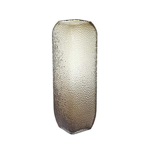 Glasvase, gepunktet, strukturiert, 30,5 cm, Braun
