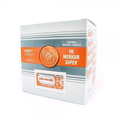 100x Merkur (0,48€/St) Rasierklingen Super Platinum für Rasierhobel Futur Dovo