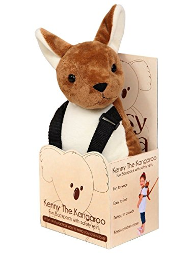 Pipsy Koala Kangaroo - Mochila portabebés de peluche con correa, diseño de canguro