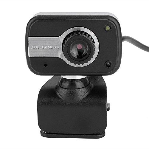 Richer R HD Webcam 1080P HD USB PC Webcam LED Nachtsicht Web CamHorizontal 360 Drehen USB 20 Webkamera mit Eingebautes Mikrofon fur Videotelefonie MSNYahooSkypeICQ usw