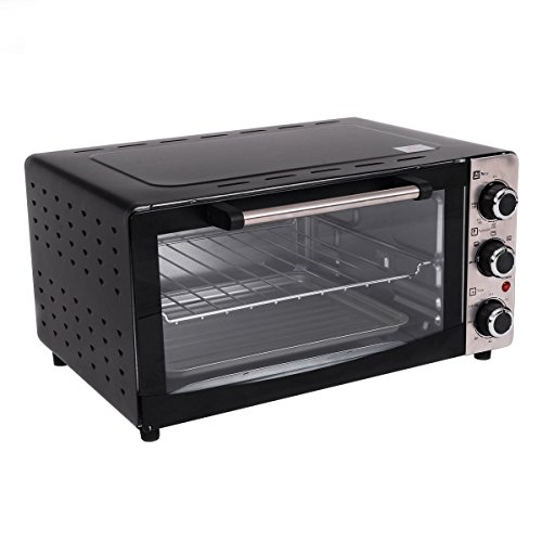 Costway 1300W Electric Toaster Oven Broiler Pizza Oven with Drip Pan, 20L Countertop