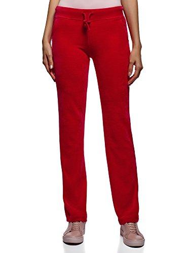 oodji Ultra Mujer Pantalones de Terciopelo Deportivos con Cordones