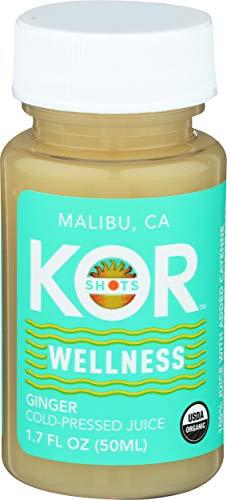 Kor Shots Ginger Shot - 1.7 Fl Oz - Wellness Shot - Freshly Pressed Ginger and Cayenne Natural Energy Boost Shot - Usda Certified Organic