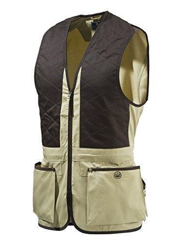 Beretta Universal Trap Cotton - Chaleco para hombre, Multicolor (Beige/Marrón), XXL