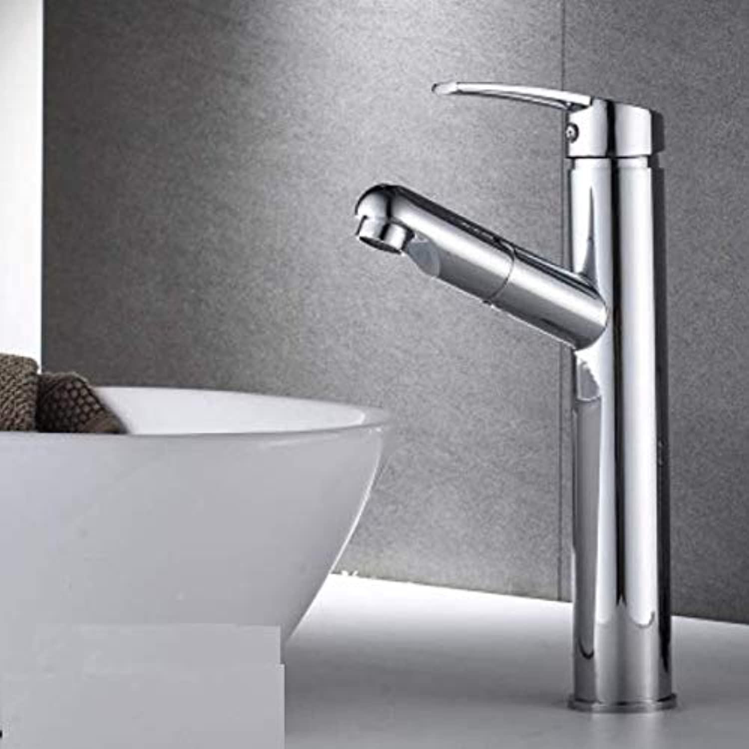 Dwthh Basin Sink Faucet Single Handle Bathroom Mixer Taps color Deck Mounted Hot and Cold Water Tap Square Shape