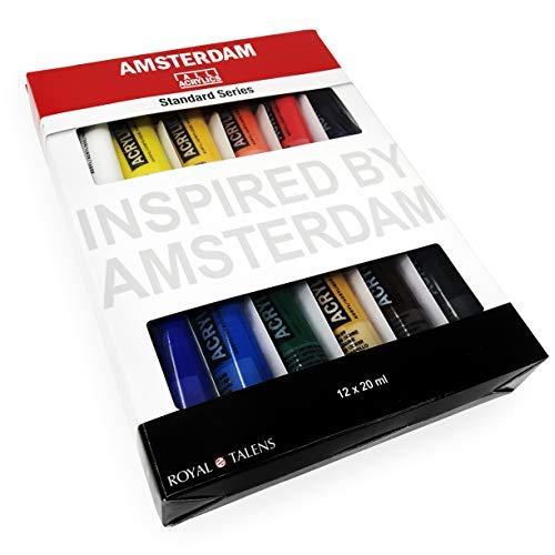Royal Talens - Amsterdam Pinturas Acrílicas - Serie Estándar - 12 X 20ml Tubos - Varios Colores