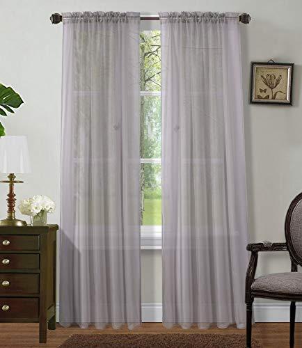 Sapphire Home 2 Panels Window Sheer Curtains 54