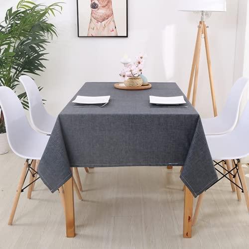 RRTY Mantel decorativo rectangular para mesa de comedor de color sólido de algodón y lino de color sólido (C5,60 x 60 cm)