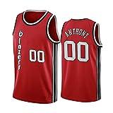 WEIZI Camiseta de Baloncesto para Hombre Carmelo Anthony Portland Trail Blazers 00#, Camiseta Transpirable de Secado, Tops Deportivos Retro Gym
