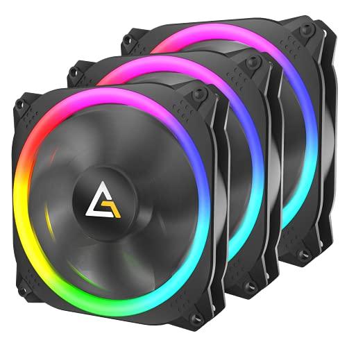 Antec 120mm RGB Case fan,4-pin RGB, Prizm spark Series, RGB High Performance PC Fan 3 Packs