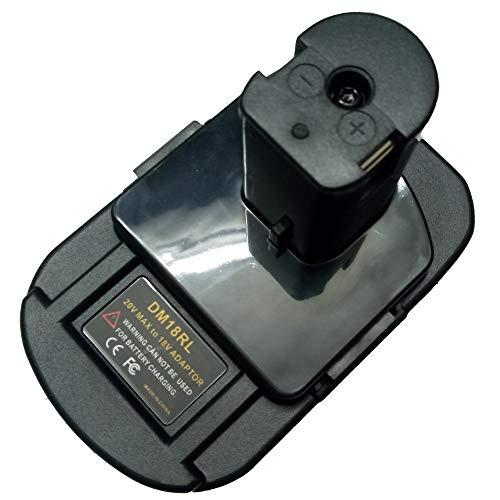 DM18RL Battery Adapter for Dewalt for Milwaukee 20V/18V Li-Ion Battery Convert to for Ryobi 18V P108 ABP1801 Battery