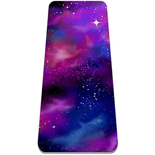 BestIdeas Esterilla de yoga con diseño de galaxia estrellada para yoga, pilates, ejercicio de suelo para hombres, mujeres y niñas, niños, principiantes, diseño antideslizante