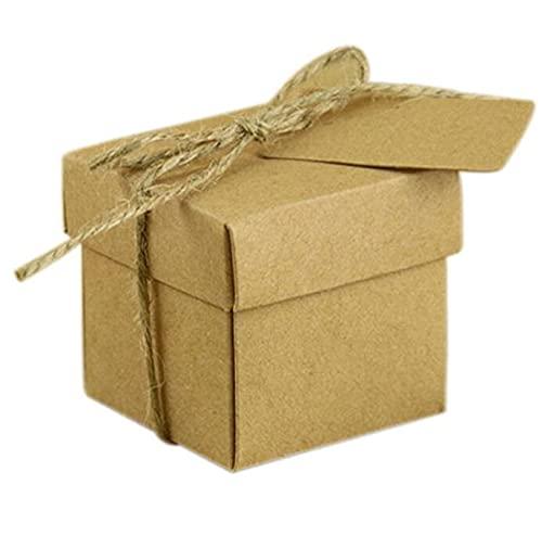 MVAOHGN Bricolaje de Boda Favores y Regalos Bolso de Papel Kraft con Caja de candado de la Cuerda de cáñamo para Decoraciones de Bodas Fiesta DE Eventos Suministros