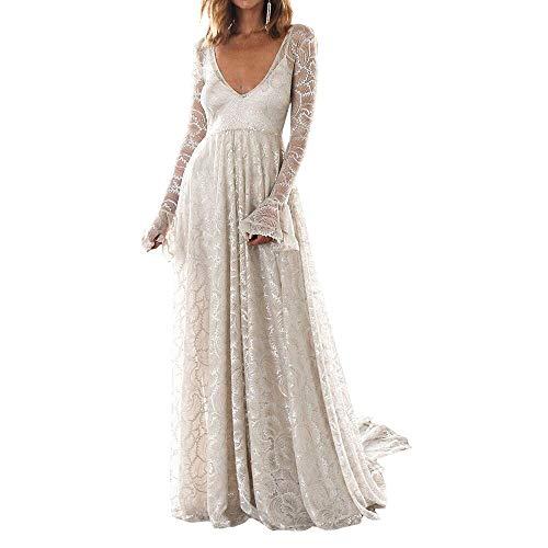 QUNLIANYI Deep V Neck Backless Spring White Lange jurk Vrouwen elegante kanten avondjurk Holiday Party Jurk Vrouwen