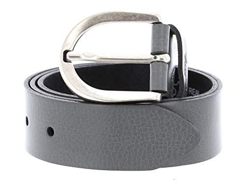 MUSTANG Damen Leder Gürtel Ledergürtel 35 mm grau weiches Rindleder Damengürtel (80 cm)