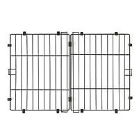 アイリスオーヤマ システムサークル用屋根 P-STNY-550 マットブラウン 幅87×奥行57cm