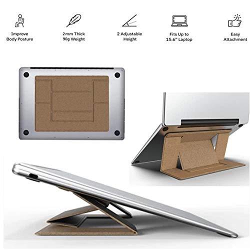 Soporte Portatil Invisible para Laptop, Soporte Plegable Invisible liviando ajuste de ángulo dual,…