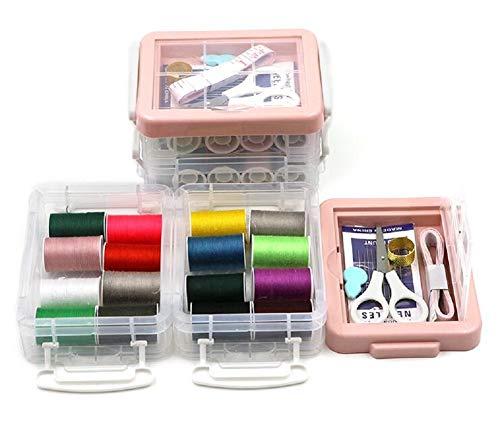 YOUZHI Costurero Kit de Costura Accesorios para Suministros de Costura, Portátil Casa De Coser Conjunto para Adulto Chicas, Mini Casa Costura Caja para Viajes a Domicilio y Uso de Emergencia