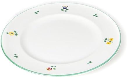 Preisvergleich für GMUNDNER KERAMIK Dessertteller Gourmet | Durchmesser : 22 cm | Streublume | Geschirr, handgemacht in Österreich