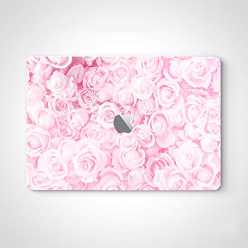 Skin Vinyl Sticker Decals for Laptop Blurred Sweet Roses Pastel Color Style Skin Sticker Laptop for MacBook Air 13' Pro 13'/15'/16' 2008-2020 Version Laptop Keyboard Decal Sticker