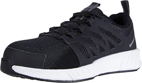 Reebok Work Men's Fusion Flexweave Safety Toe Athletic Work Shoe Industrial, Black, 11