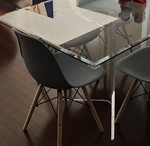 southeastflorida Acrylic V's or Boomerang Dining Table Bases (2) Clear 29' high x 3/4' Thick