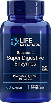 Life Extension Enhanced Super Digestive Enzyme, 60 Vegetarian Capsules
