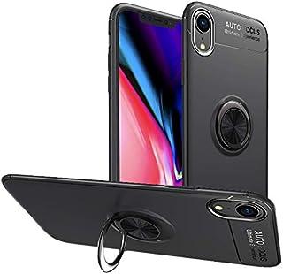 Newseego iPhone 9ケース 360度調節可能なリングスタンド つや消し薄型ソフト耐衝撃保護リングホルダー メタルキックスタンドフィット カーマウントカバー Apple iPhone 9用